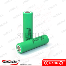 China suppliers high drain 18650 25r battery 3.7V 2500mha green samsung 25r 18650