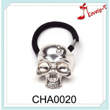 2015 wholesale hair jewelry women fashion neon mental skull fashion elastic hair bands,hair rope