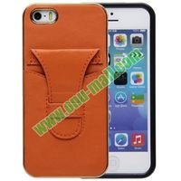 2 in 1 Pattern Luxury Genuine Leather Case for iPhone 5S with Card Slot