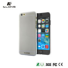Transparent Black Mobile Phone Cover Hard Plastic Case For iPhone 6