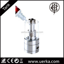 THC e cigarette pyrex glass tank, mechanical mod drip tank atomizer