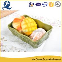 Hottest rectangle shape oven safe ceramic colorful bakeware
