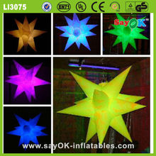party decoration inflatable led star inflatable air star balloon