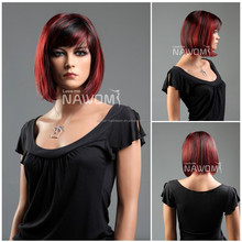 short straight nice Halloween party girl wig