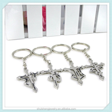 High quality fashion design wholesale stainless steel zodiac sign keychains