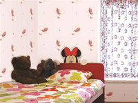 Eco-friendly removable vinyl pvc home decor wallpaper for baby room