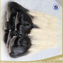 Brazilian remy hair top hair closure piece