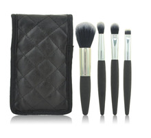 4pcs Cosmetic Makeup Brush Kits , Gift Makeup Brush Case With Pouch