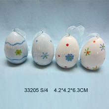 2015 new product handpainted ceramic easter hanging egg,easter hanging crafts
