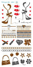 2015 New Beauty non-toxic and safe temporary , gold foil chain metallic tattoo