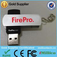 Imillion wholesale 4GB swivel usb with customer logo print