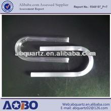U-shape Translucent quartz tube or high precision u bend quartz tube