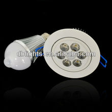 motion sendor & auto shut offer recess 7w watt led ceiling light