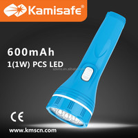 Stylish 1W 600mAh LED rechargeable torch