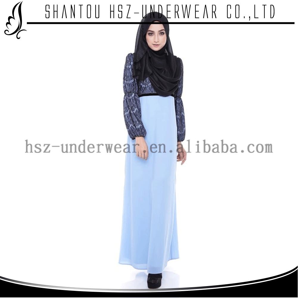 Md a005 newest islamic wedding dresses high quality islamic long