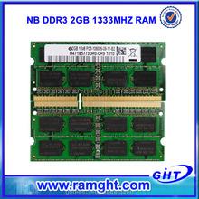 USA lifetime warranty 204pin 2gb ddr3 ram memory so dimm 1333mhz pc10600