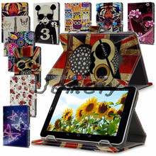 "Universal Leather Folding Stand Case Cover For 7"" 7Inch Android PC Tablet Free Shipping Cost"