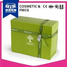 Skin care cosmetic ribbon closure paper packaging box