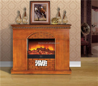 Victorian Electric Fireplace, Wood Stove Heater For Large Areas, Living Room Bedroom Fireplace Mantle with Remote Control