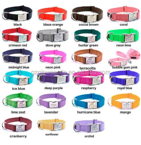HEAVY DUTY Webbing Dog Collar with Laser Engraved Personalized Buckle (1).jpg
