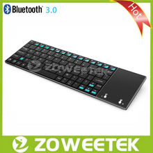 Original high quality slim keyboard with touchpad , RF or Bluetooth connection