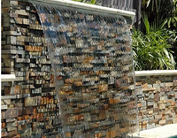 Natural Stone Cultured Stone Wall Panel, Multicolor Slate Cultured Stone