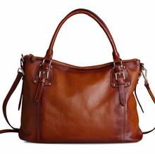 HIGH END!Dyed leather kraft first layer luxury brand handbags dropshipping, leader handbags women