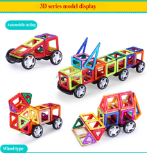 High quality wholesale plastic magnetic building blocks toy for kids 2015 chrismtas gifts