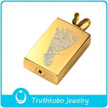 Memorial Ash Keepsake - Cremation Jewellery Laser Footprint Jewellery Ashes Urn Pendant