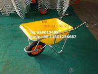 plastic tray with aluminium frame wheelbarrow for japan market