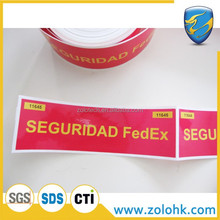 China supply carton sealing Packaging tape, warranty void if removed security marking tape, Adhesive die-cutting tapes
