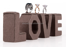 New product Love Letter Linen Ring Jewellry Display Stand S1269