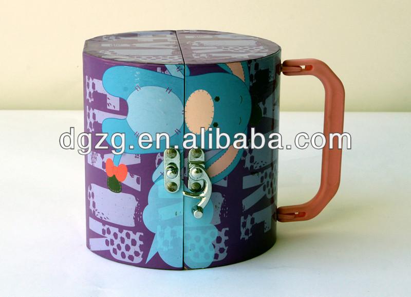 Tube de papier/boîte avec serrure, pour cosmétiques/emballage cadeau, boîte d'accessoires