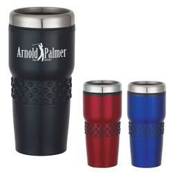 Stainless Steel Tumbler Mug with Dotted Rubber Grip