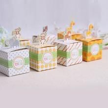 Giraffe/elephant/monkey/tiger animals Baby Shower favors,Birthday Party Boxes, Children's day box and wedding box