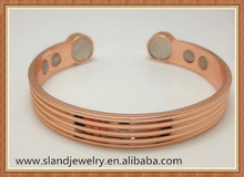 Wholesale Unisex Stripy design Magnetic Copper bracelet health bracelet for Arthritis and Golf Sport Aches and Pains