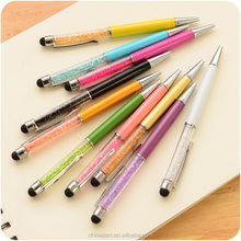 Hot selling crystal metal pen with stylus