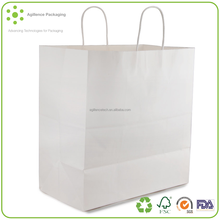 2015 Professional Factory Made Pure White Paper Packing Bag Brown Kraft Paper Bag for Shopping