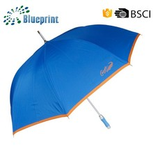 Siliver coated sun protect best aluminium shaft 60 inch golf umbrella