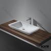 small wash basin , solid surface small corner wash basin