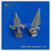 High Quality Wholesale Decorative Wrought Iron Fence Spear Points