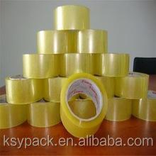 China manufacturer yellowish bopp adhesive packing tape