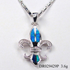 Anchor Styles Blue Fire Opal Pendant Corsair Finding Jewelry