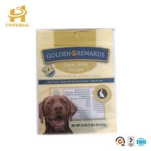 Resealable dog food bag and zipper pet food plastic bag