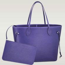 Omeal factory hot sell best quality purple epi leather handbags fashion women handbag