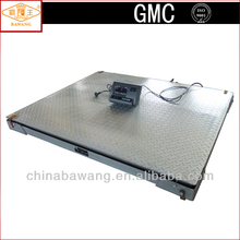 LED Painted Chequer Steel Plate Iron/U Steel Beam Electronic Floor Weighing Scale with Bottom Frame for 1t 2t 3t 5t 10t SCS-A-A