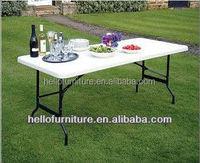 white plastic folding party table and chair for sale