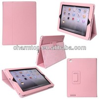 Top Quality Litchi Leather Stand Cover For iPad 5