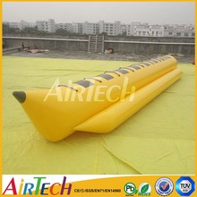 Yellow PVC long water boat for sea