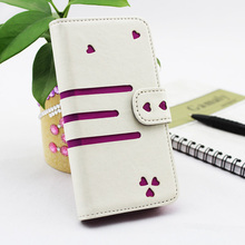 Sweet heart leather case cheap with hot selling wallet case for iphone 5